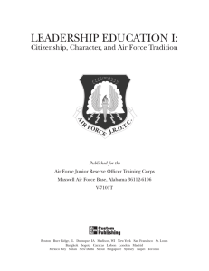 LEADERSHIP EDUCATION I: