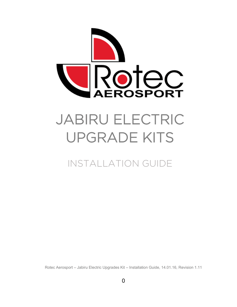 Jabiru Electronic Kit Installation Guide