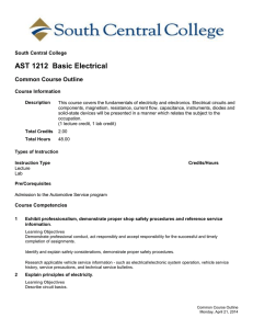 AST 1212 Basic Electrical