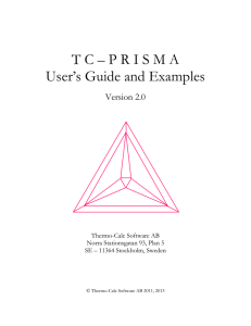 TC – PRISMA User`s Guide and Examples - Thermo