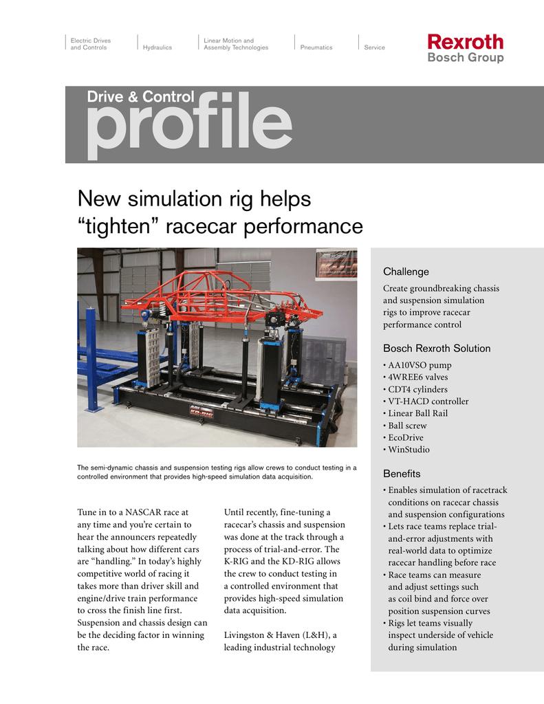 New simulation rig helps tighten racecar performance