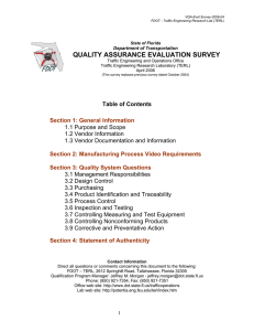 quality assurance evaluation survey