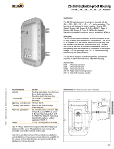 ZS-260 Explosion-proof Housing