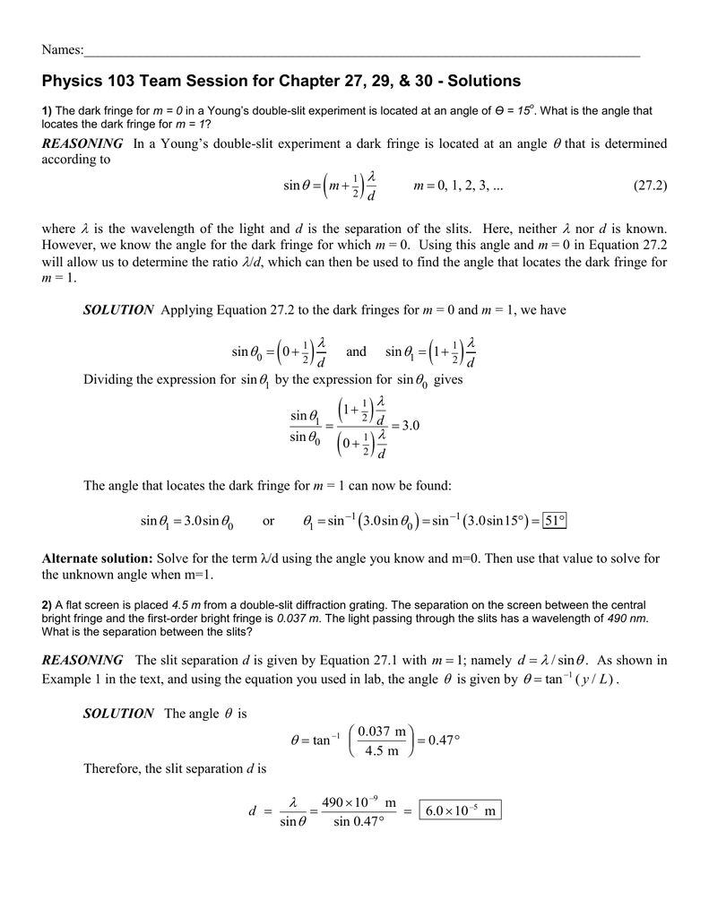 Physics 100 Group Session for Chapters 1 – 3