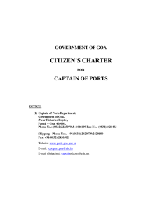 Captain of Ports Department