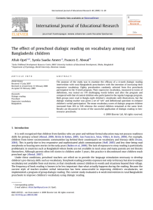 The effect of preschool dialogic reading on vocabulary among rural