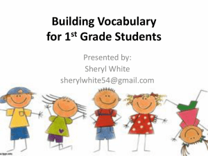 Building Vocabulary through Text (Grade 1)