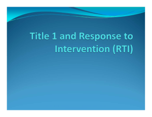 Response to Intervention/Title 1 School District 6