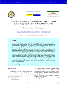 Application of geo-spatial technologies for ground water quality