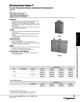 ECS Series Breaker Stations Catalog Pages November 2015