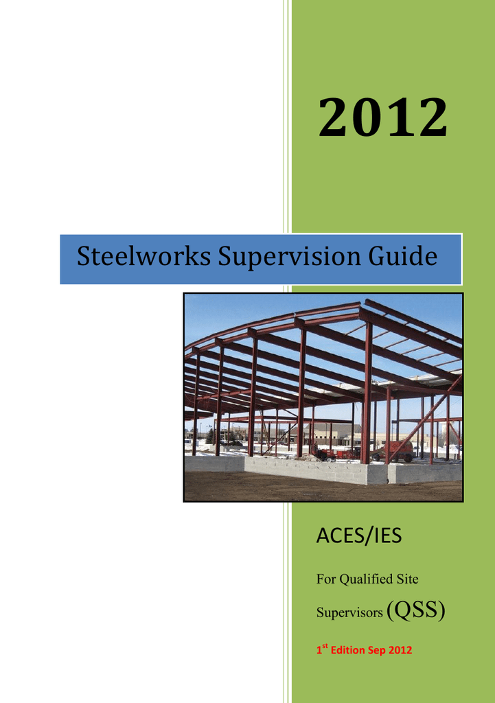 Steelwork Supervision Guide - Institution of Engineers Singapore