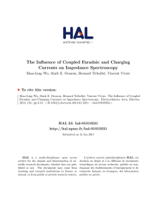 The Influence of Coupled Faradaic and Charging Currents on
