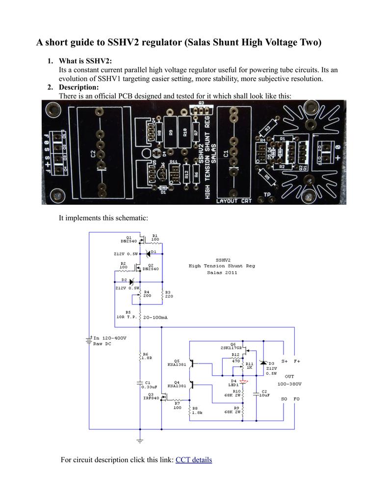 Strange A Short Guide To Sshv2 Regulator Salas Shunt High Voltage Two Wiring Database Xlexigelartorg