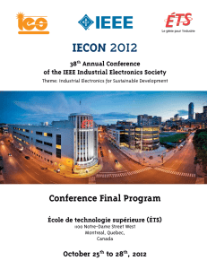 Conference Booklet - iecon 2012