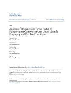 Analysis of Efficiency and Power Factor of - Purdue e-Pubs