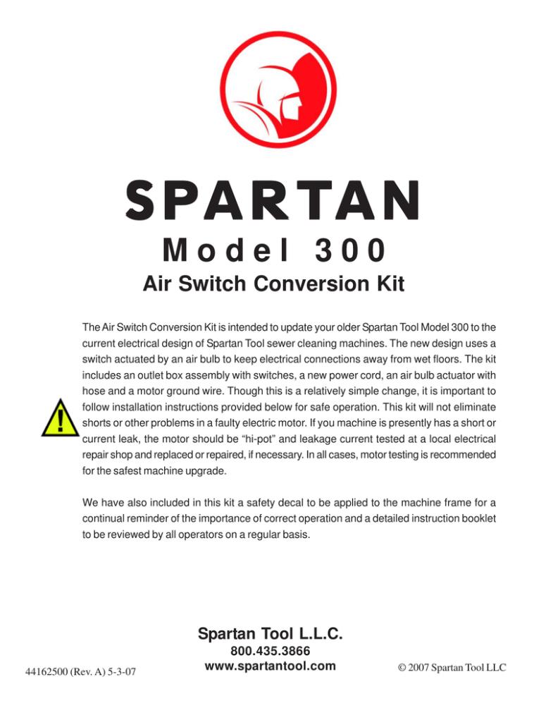 300 Air Switch Conversion Kit   Spartan Wiring Diagrams      StudyLib