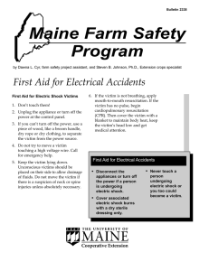 NASD: First Aid For Electrical Accidents
