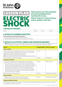 electric shock lesson
