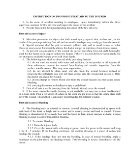 Document 13 - INSTRUCTION ON PROVIDING FIRST AID TO THE