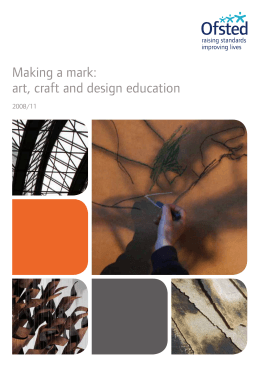 Making a mark: art, craft and design education