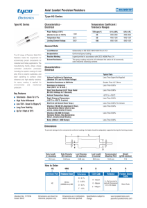 Axial Leaded Precision Resistors - Type H2 Series