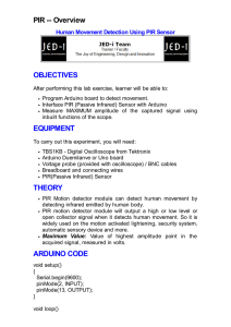 PIR -- Overview OBJECTIVES EQUIPMENT THEORY