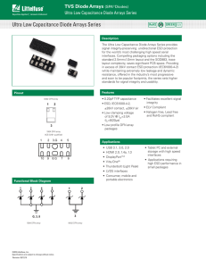 Ultra Low Capacitance Diode Arrays Series