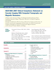 ACCF/AHA 2007 Clinical Competence Statement on Vascular