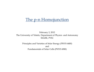 The pn Homojunction - Department of Physics and Astronomy