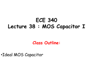 ECE 340 Lecture 38 : MOS Capacitor I