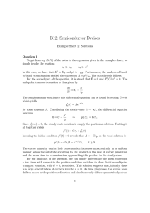 B12: Semiconductor Devices