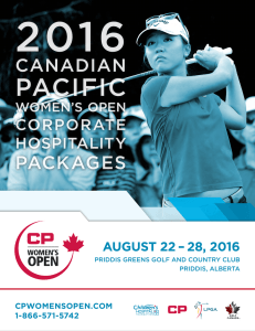 pacific - Canadian Pacific Women`s Open