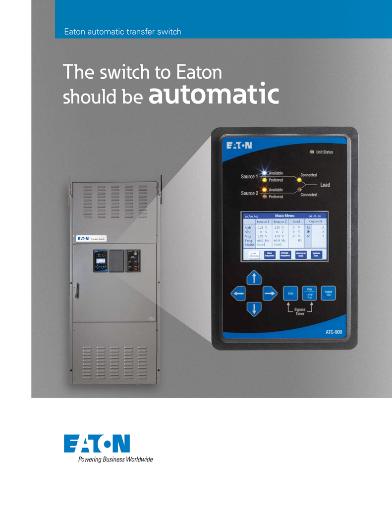 Eaton Atc 800 Wiring Diagram Not Lossing Automatic Transfer Switch Rh Studylib Net P48g11s0312 Seat W209 Mercedes