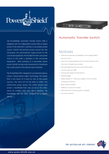 PowerShield Automatic Transfer Switch Brochure