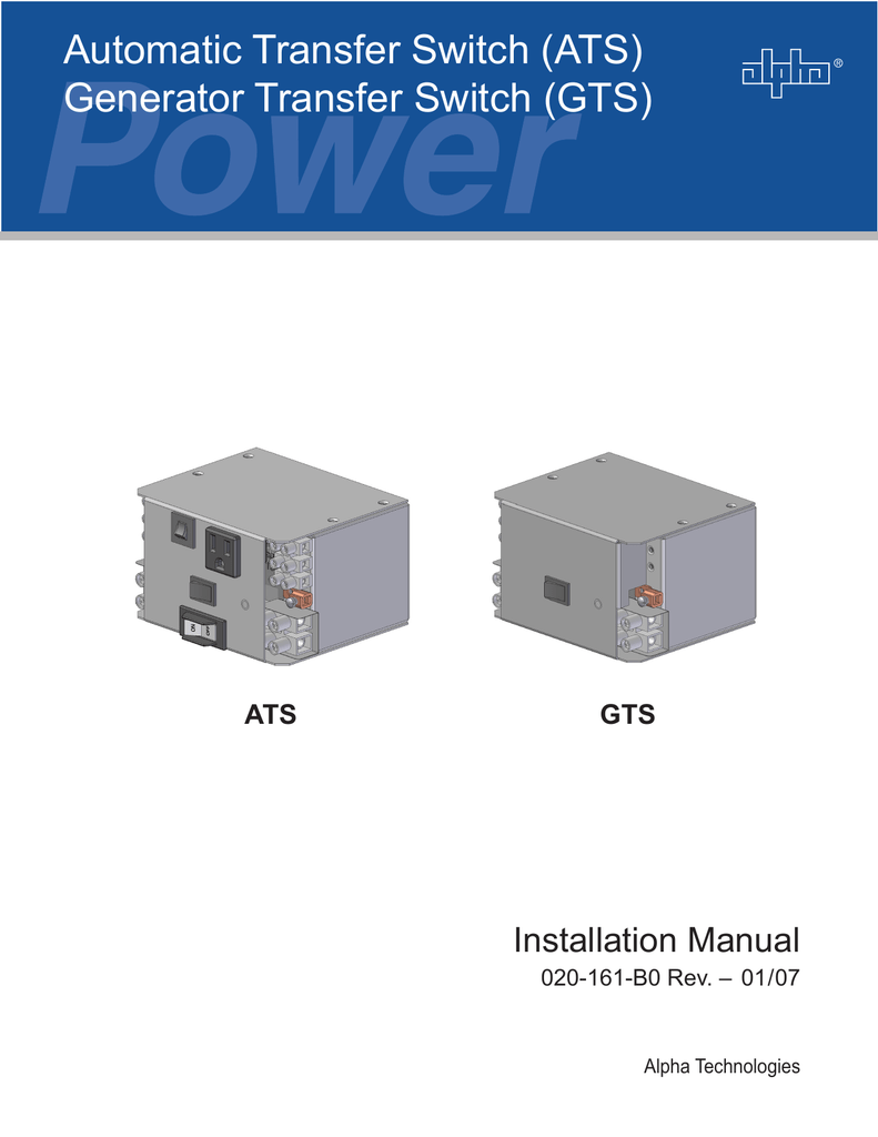 Automatic Transfer Switch Interprovincial Traffic Services Manual Generator Wiring Diagram