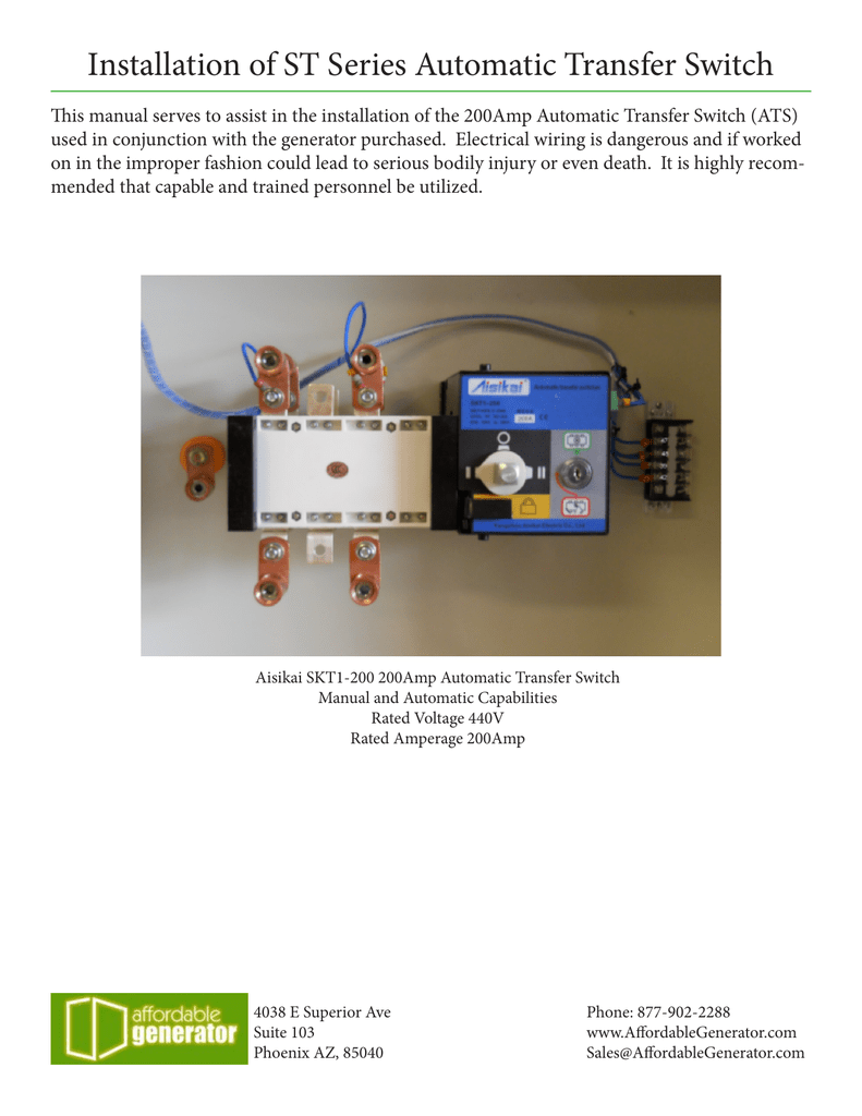Installation Of St Series Automatic Transfer Switch 200 Wiring Diagram 018677359 1 Cccba69d8a4b52c56774cbd9a7de728d
