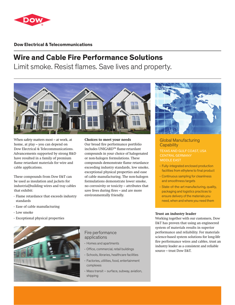 Wire And Cable Fire Performance Solutions Limit Smoke Resist Home Entertainment Wiring