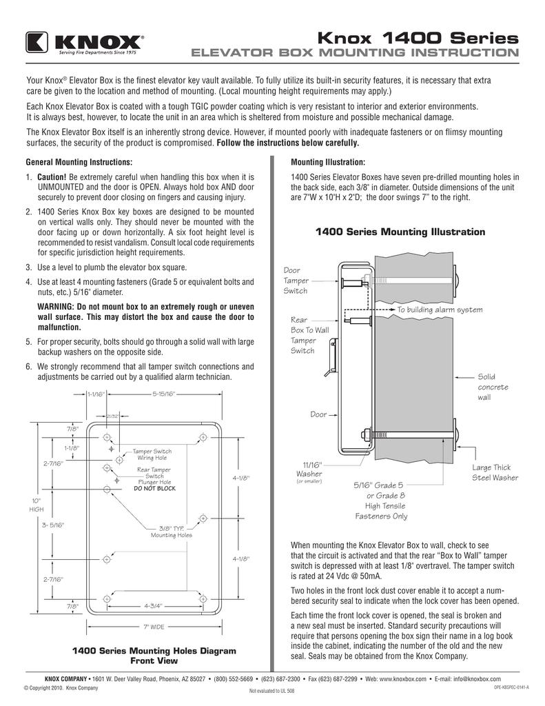 knox 1400 series Genie Wiring Diagram