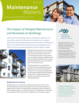 The Impact of Delayed Maintenance and Renewals on Buildings