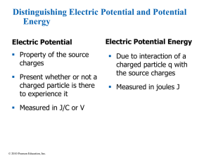 Distinguishing Electric Potential and Potential Energy