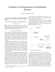 Examples of Ferroresonance in Distribution Systems
