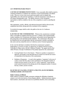 ACC SPORTSMANLIKE POLICY I. DUTIES OF MEMBER