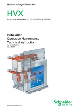 Installation Operation Maintenance Technical instruction