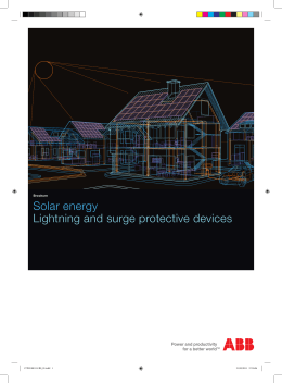 Solar energy Lightning and surge protective devices