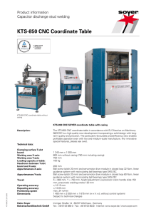 KTS-850 CNC Coordinate Table - soyer