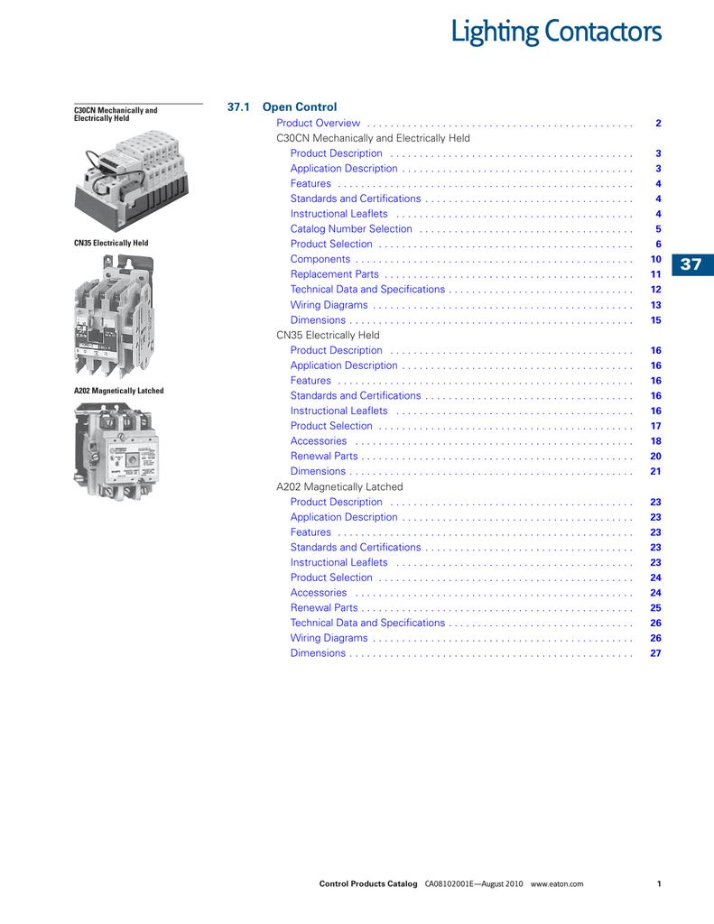 30A Eaton C30CNM20A03A0 Contactor 2P 600VAC 120V