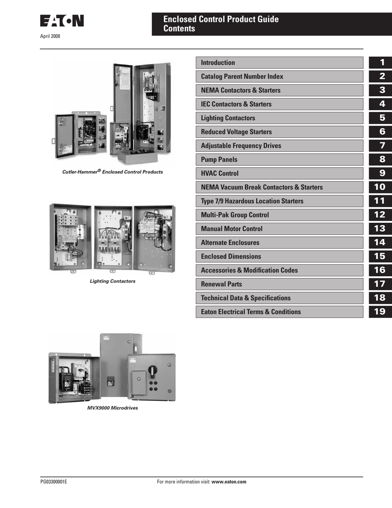 Eaton Cutler Hammer Enclosed Control Catalog Tri Wiring Permanent Magnet Latching Contactors For Nonmotor And Lighting