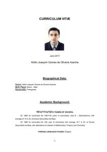 my resume in PDF - Universidade do Porto