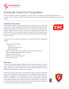 Computer Sciences Corporation
