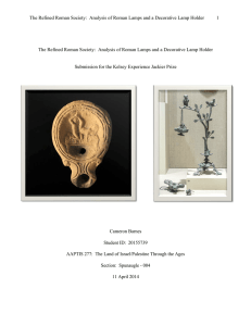 The Refined Roman Society: Analysis of Roman Lamps and a